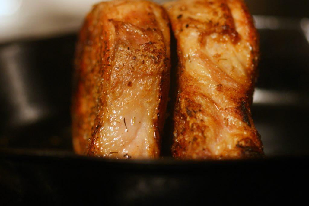 pork chop on side